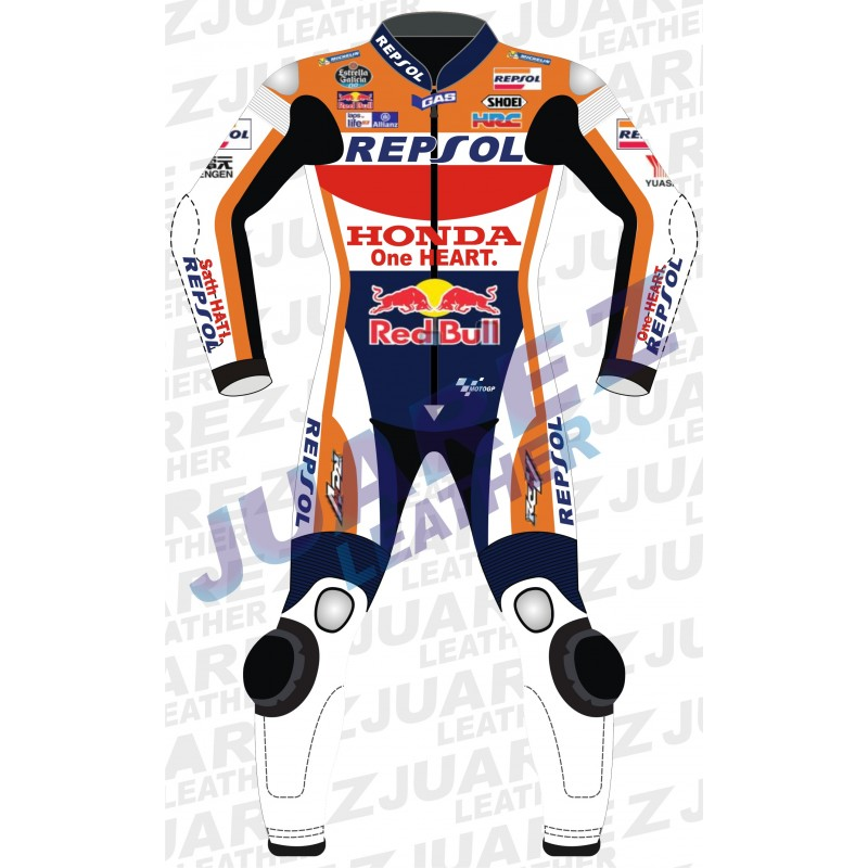 Repsol Marc Marquez 2016 Red Bull Motogp Race Leathers Suit